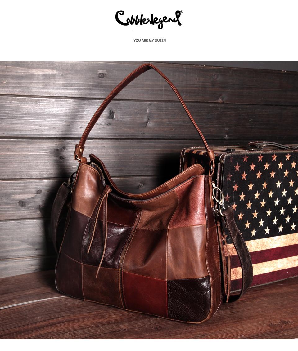 Cobbler Legend marque en cuir véritable femmes seau sac Style poche sac à main décontracté épaule bandoulière grande capacité sac à main 2019