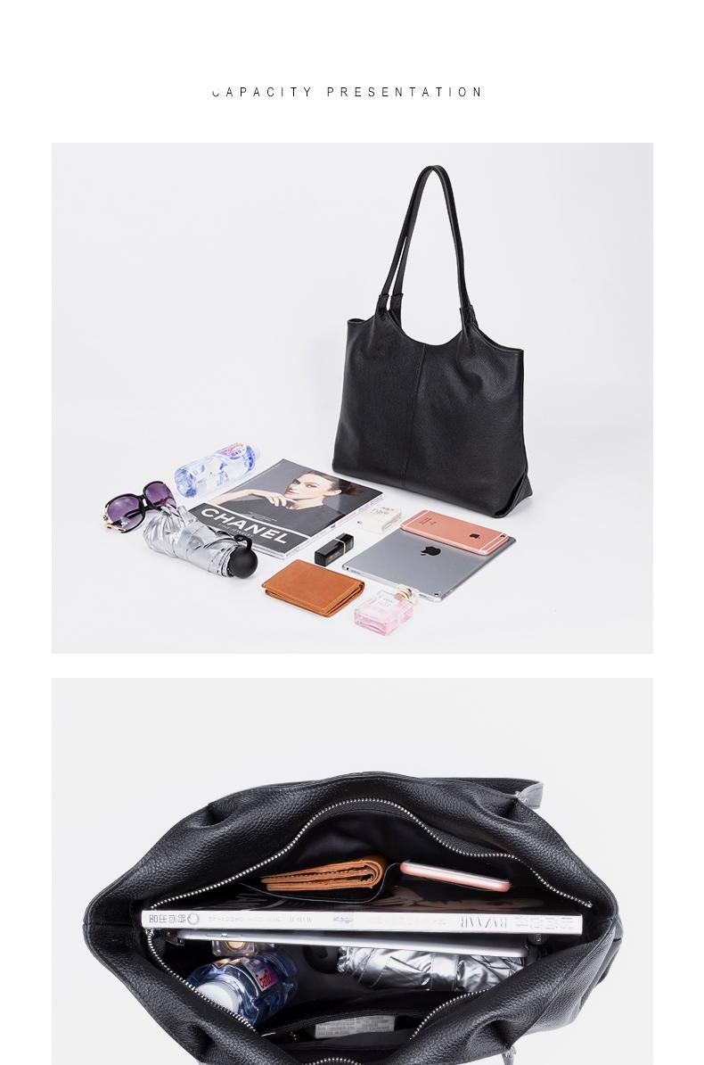 GIONAR véritable sacs fourre-tout en cuir de vache pour les femmes élégant quotidien noir sacs à main et sacs à main sac à bandoulière pour voyage de travail
