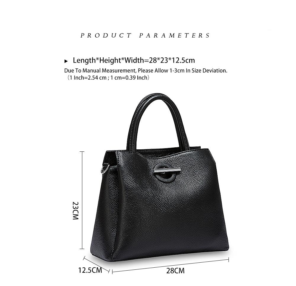 Zency mode femmes sac fourre-tout 100% en cuir véritable sac à main noir dame bandoulière sac à main de haute qualité sacs à bandoulière